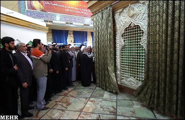 رو نمايي از ضريح جديد  امام حسين ع